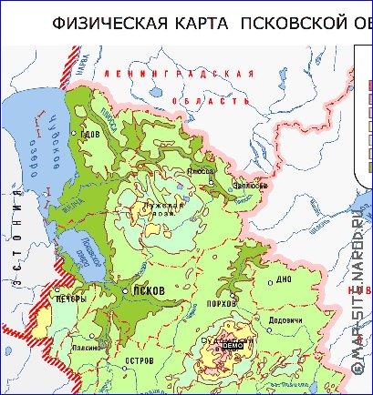рисунок рельефа псковской области опубликовала официальной